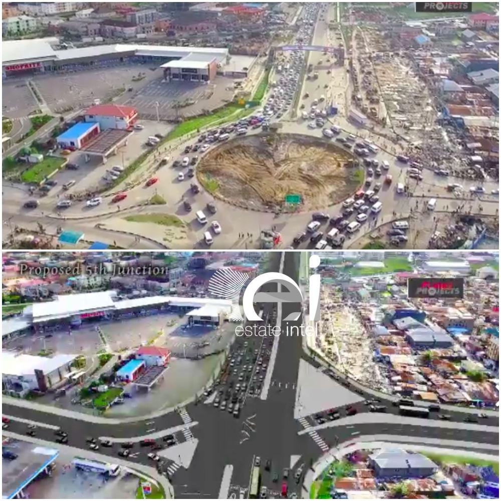 5th Roundabout, Lekki Epe Expressway. (Jakande)