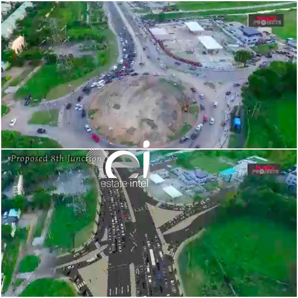 8th Roundabout, Lekki Epe Expressway. (VGC)