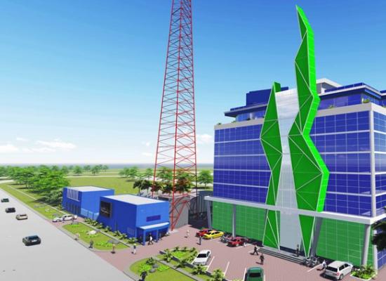 Development: AIM Group Broadcasting HQ, Lekki Phase 1 - Lagos. Image Source: AIM Consultants