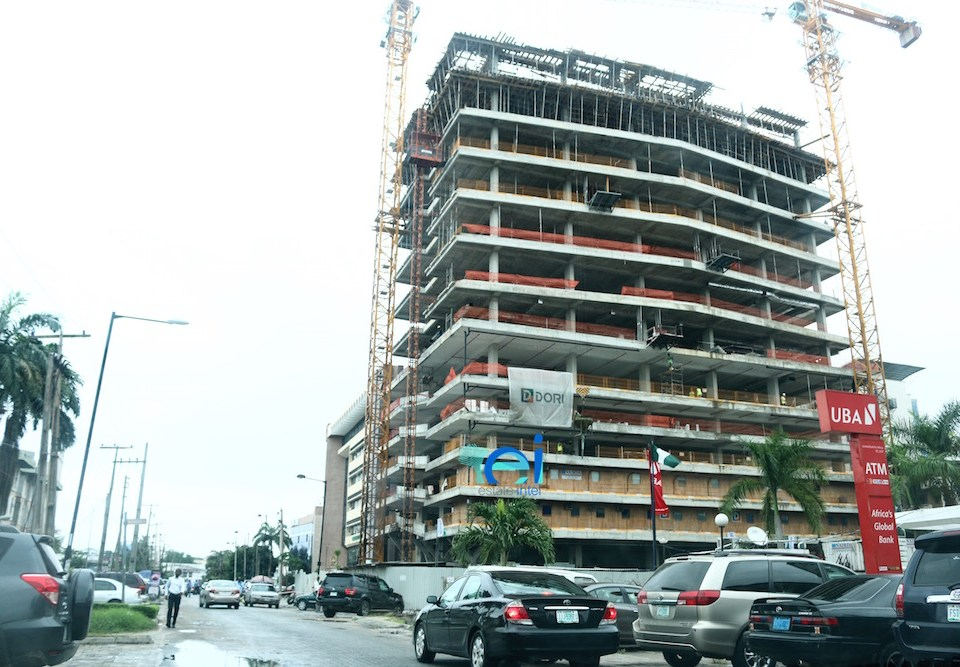 Ongoing construction in Victoria Island, Lagos.