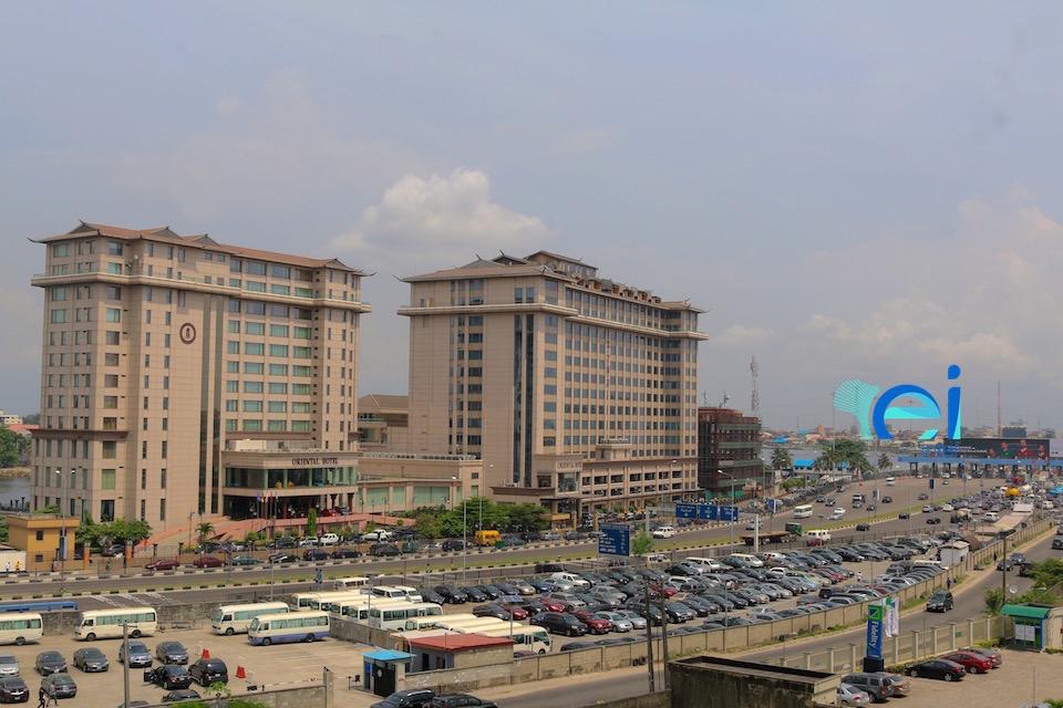 November 2017. View from the Terrace. Cornerstone HQ Development on Chief Yesuf Abiodon Road, Oniru - Lagos