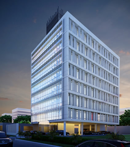 Development: Head Office Complex for Continental Reinsurance PLC, Victoria Island - Lagos. Image Source: Formwork Limited