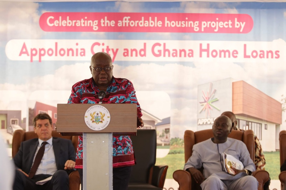 President Nana Akufo-Addo spoke on the affordable housing project in November 2017