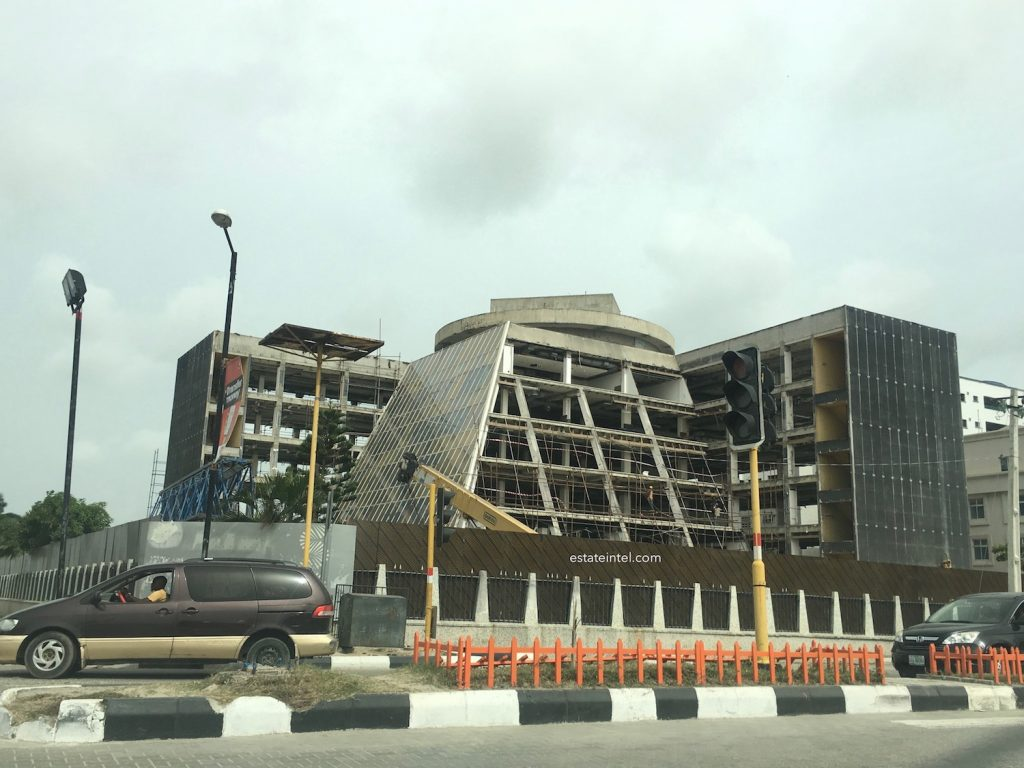 April 2017. Photos: The Iconic IMB Plaza in Victoria Island is being Renovated