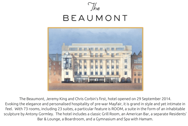 Beaumont Hotel London