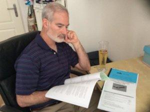Donald Sienkiewicz studying