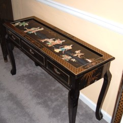 Black Lacquer Sofa Table French Provincial Ebay Photo Gallery