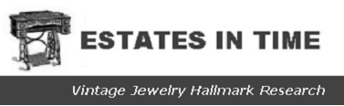 Estates in Time Vintage Jewelry Hallmark research