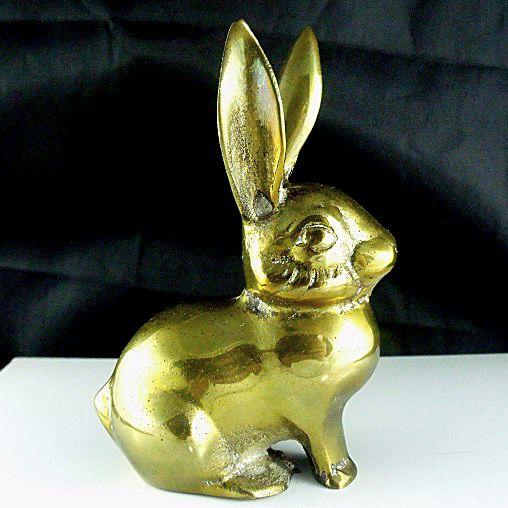 Brass Rabbit Figurine