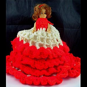 Doll Crochet Tissue Cover