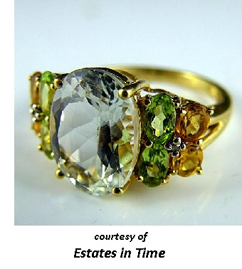 November's Birthstones Topaz and Citrine Ring