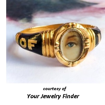 Victorian Jewelry Morning period Lovers eye Morning Ring