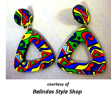 Psychedelic Earrings Cool Sixties Jewelry
