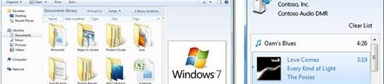 Ventanas que muestran el interfaz de Windows 7