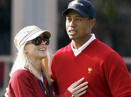 Tiger Woods y esposa