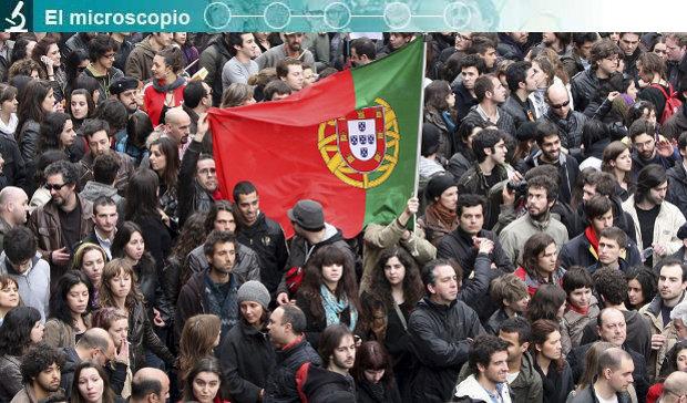 Los jóvenes protestan en Portugal