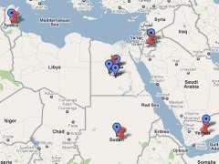 Mapa de la revolución árabe