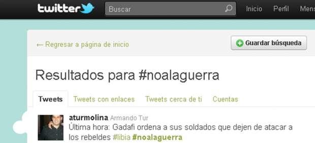 #noalaguerra en Twitter