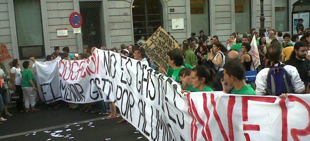Manifestación de profes