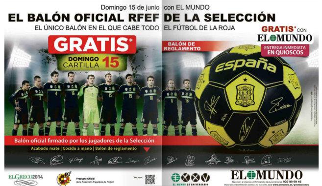 Copa del Mundo 2014 Consiga gratis con EL MUNDO el baln