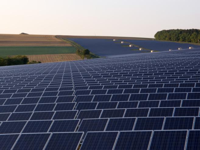 Un parque de energía fotovoltaica en Alemania.