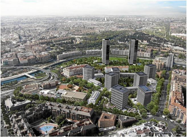 Recreación de cómo quedará el desarrollo urbanístico junto a...
