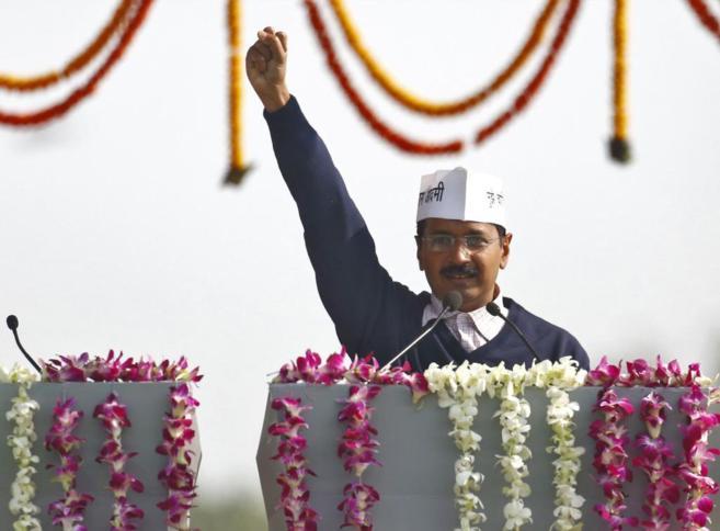 El jefe del Gobierno de Nueva Delhi, Arvind Kejriwal.