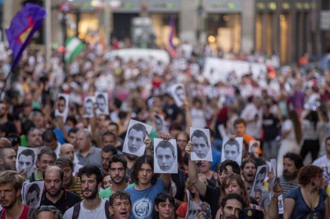 Manifestación en favor de Alfon