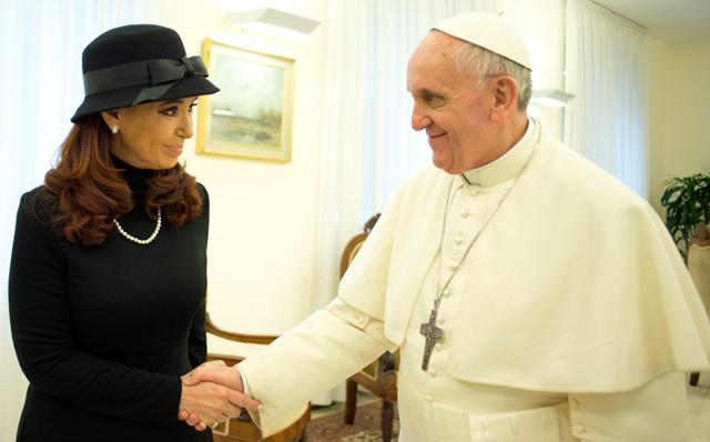 Resultado de imagen de papa francisco cristina kirchner