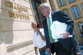 L'expresident de l'Eurogrup Jean-Claude Juncker, ahir.
