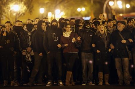 Protestas en Valencia por el conflicto de Gamonal.