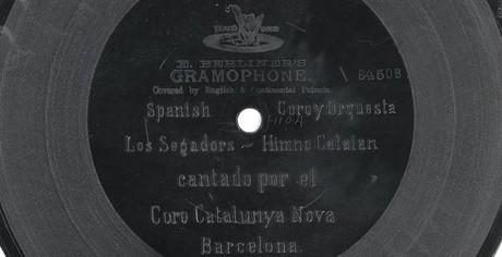 El disco de zinc original de 'Els segadors', de 1900.