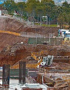 Excavación junto al parque de Sant Martí.