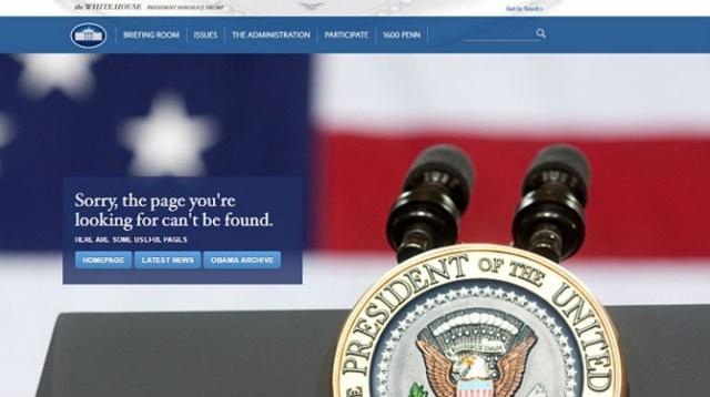 Resultado de imagen de web de la Casa Blanca