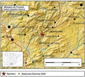 Zona donde se ha producido el terremoto. EFE