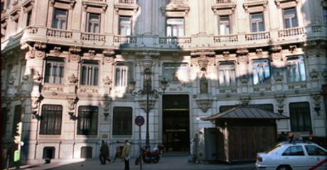 Sede central del Banco Central Hispano en Madrid.