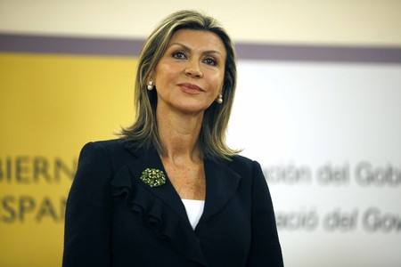 La delegada del Gobierno en Catalunya, María de los Llanos de Luna, durante la toma de posesión del cargo, el pasado 2 de enero.