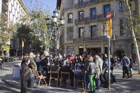 La rueda de prensa que han ofrecido en la calle los familiares de Ester Quintana.