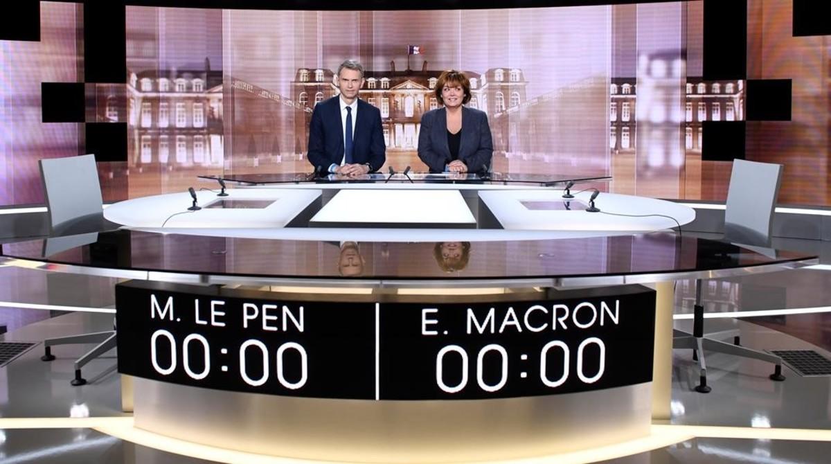 Macron y Le Pen, ante el decisivo debate cara a cara de esta noche