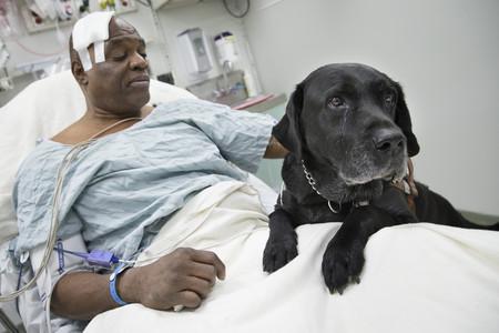 Cecil Williams con su perro Orlando.