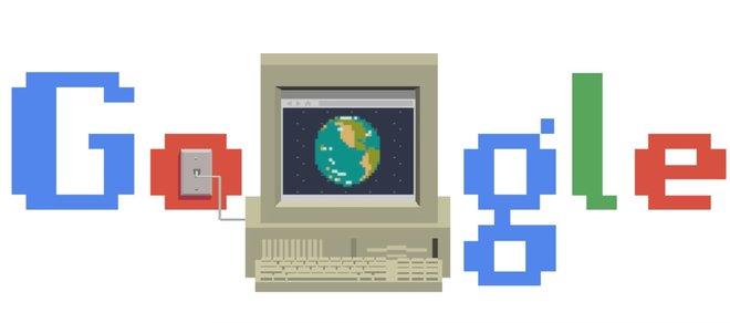 Doodle de Google dedicado al aniversario de internet