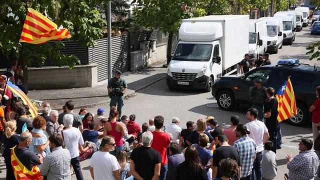La Guardia Civil interviene casi 10 millones de papeletas para votar en el referéndum del 1-O.