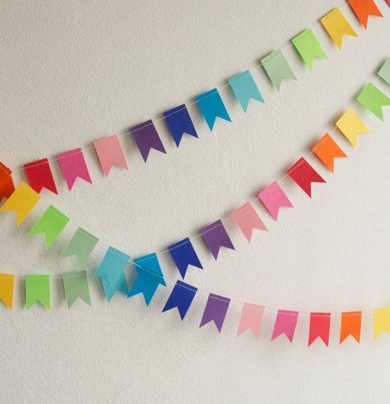 10 Guirnaldas de papel express