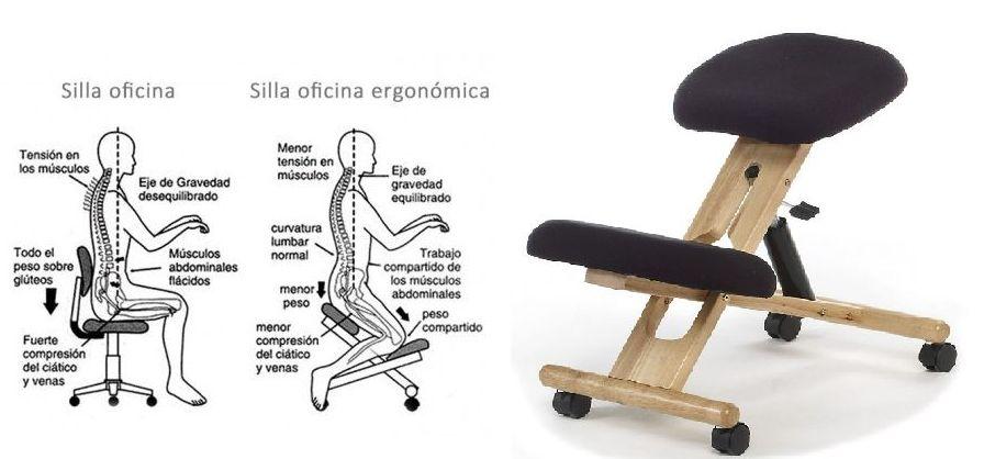 Silla ergonmica de rodillas modelo Flip Catlogo de
