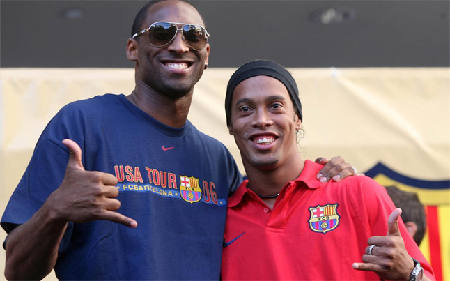 Image result for Kobe Bryant and Ronaldinho