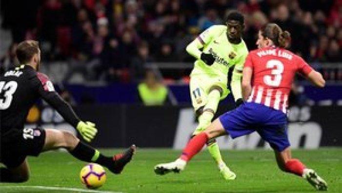 Dembélé supera a Oblak en el Atlético-Barça de la Liga 2018/19