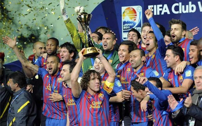 Barça at previous Club World Cup | Foto: EFE