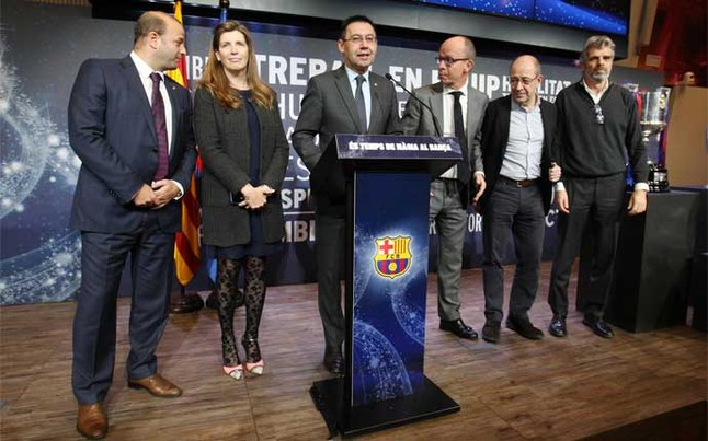 """Bartomeu: """"We are the Barça of the Five Cups"""""""