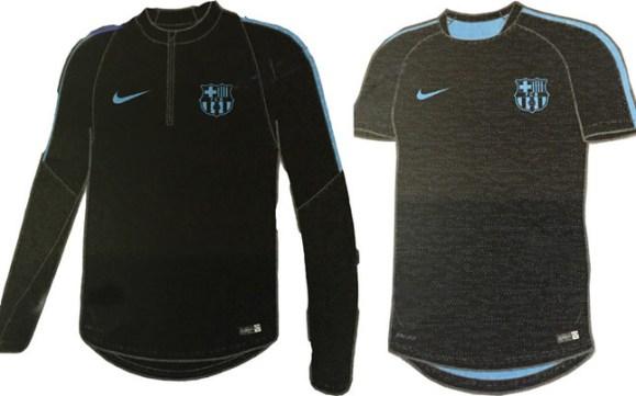 Camiseta y sudadera de entrenamiento FC Barcelona 2015 16 Champions League 9799b56e6fd
