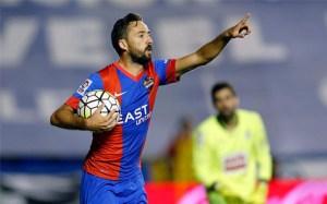 Morales celebra el gol anotado frente al Eibar.